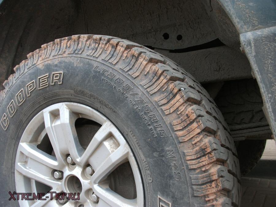 размер колес на л200
